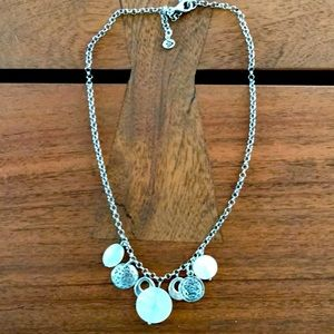 N1830 retired silver and mother of pearl necklace